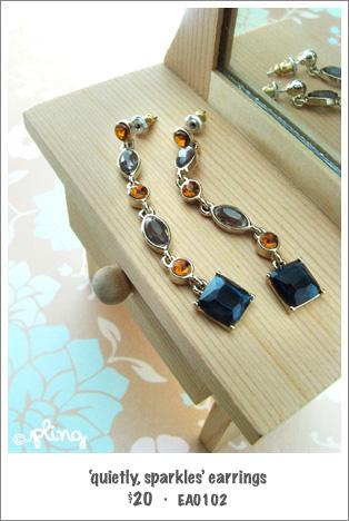 EA0102 - 'quietly, sparkles' earrings