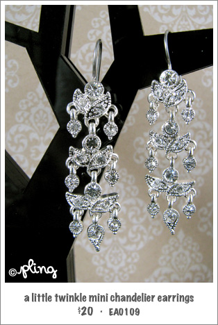 EA0109 - a little twinkle mini chandelier earrings