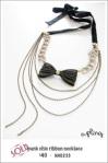NA0233 - punk chic ribbon necklace