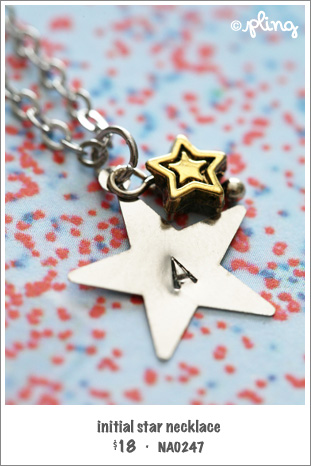 NA0247 - initial star necklace