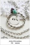 NA0249 - circle of life necklace