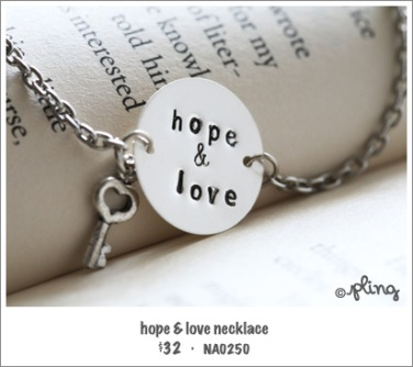 NA0250 - hope & love necklace