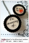 SHN012 – 'i'm dreaming of' necklace   SHN013 – 'be still my heart'necklace