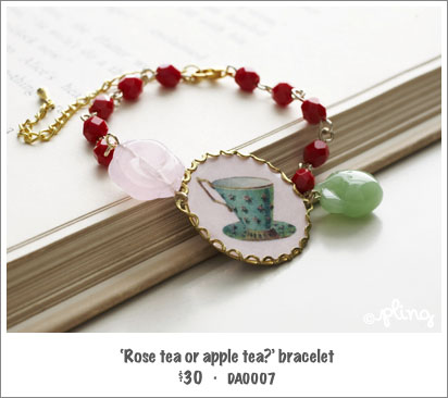 DA0007 - 'Rose tea or apple tea?' bracelet