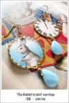 EA0169 - 'The Rabbit is late!' earrings