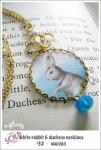 NA0283 - white rabbit & duchess necklace