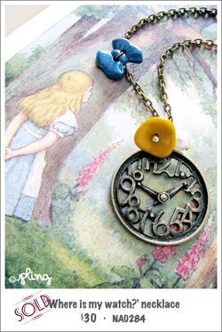 NA0284 - 'Where's my watch?' necklace