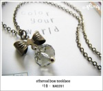 NA0291 - ethereal bow necklace (smoky)